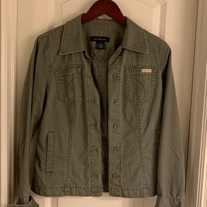 Green denim Calvin Klein jacket